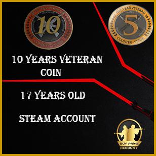 CSGO Veteran Coin Account | 5 Year Coin CSGO Account | CSGO veteran