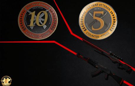 CSGO 10 years veteran coin